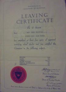 My Leaving Certificate 1959