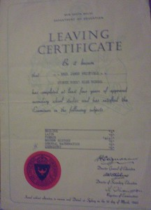 My Leaving Certificate 1959